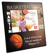 Personalized, Magnetic Photo Frame, Basketball