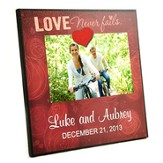 Personalized, Magnetic Photo Frame, Love Never Fails