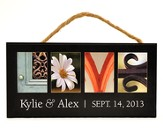 Personalized, Hanging Sign, Love