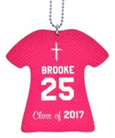 Personalized, Jersey Keychain, Graduation, Girl, Pink