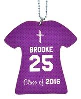 Personalized, Jersey Keychain, Graduation, Girl, Purple