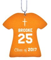 Personalized, Jersey Keychain, Graduation, Girl, Orange