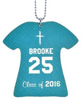Personalized, Jersey Keychain, Graduation, Girl, Teal