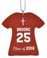 Personalized, Jersey Keychain, Graduation, Girl,  Burgundy