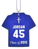 Personalized, Jersey Keychain, Graduation, Boy, Blue