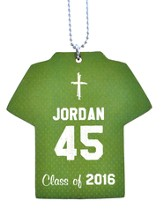 Personalized, Jersey Keychain, Graduation, Boy, Green