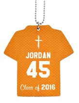 Personalized, Jersey Keychain, Graduation, Boy, Orange