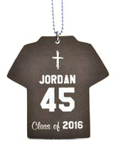 Personalized, Jersey Keychain, Graduation, Boy, Grey