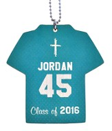 Personalized, Jersey Keychain, Graduation, Boy, Teal