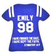 Personalized, Jersey Magnet, Keep The Faith, Girl, Blue