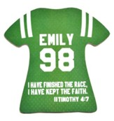 Personalized, Jersey Magnet, Keep The Faith, Girl,  Green