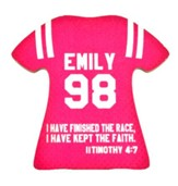 Personalized, Jersey Magnet, Keep The Faith, Girl, Pink