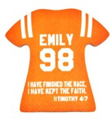 Personalized, Jersey Magnet, Keep The Faith, Girl,  Orange