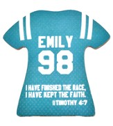 Personalized, Jersey Magnet, Keep The Faith, Girl, Teal