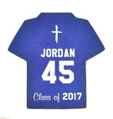 Personalized, Jersey Magnet, Graduation, Boy, Blue