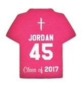 Personalized, Jersey Magnet, Graduation, Boy, Pink