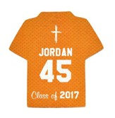 Personalized, Jersey Magnet, Graduation, Boy, Orange