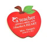 Personalized, Apple Magnet, A Teacher Opens A Mind And  Touches A Heart