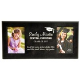 Personalized, Double Photo Frame, Graduation, Black   4X6