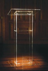 U-Shaped Acrylic Lectern with Shelf (46 x 24 x 16)