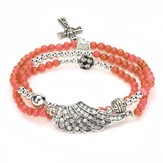 Wrap Cross Bracelet, Orange