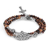 Wrap Cross Bracelet, Tiger Eye