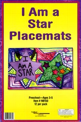 I am a Star Place Mat Craft Kit, pack of 12