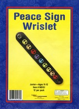 Peace Sign Wristler Craft Kit, pack of 12