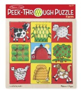 Farm Peek-Through Puzzle, 9 Pieces