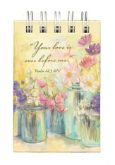 Flowers in Jars, Mini Spiral Pad