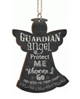 Guardian Angel Car Charm - (Approx. 2.75 X 4 W/ 7.5 Chain)