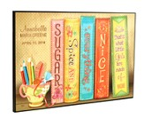 Personalized, Lithograph Plaque, Sugar and Spice Books, Girls, Large