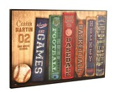 Personalized, Lithograph Plaque, Sports Books, Large