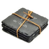 Personalized, Slate Coasters, Set of 4