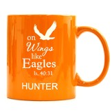 Personalized, Ceramic Mug, On Wings Like Ealges, Orange