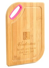 Personalized, Bamboo Cutting Board, Be Still, Pink