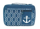 Anchor Navy Blue Bible Cover, Hebrews 6:19, X-Large