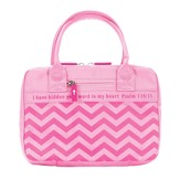 Chevron Bible Cover, Pink, X-Large