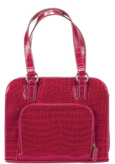 Croco Wedge Shaped Handbag Cover, Red, Large