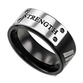 Strength Men's Lux Ring, Black, Size 9