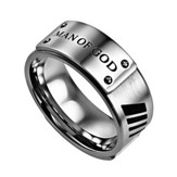 Man Of God Men's Lux Ring, Silver, Size 9