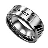 Fear Not Men's Lux Ring , Silver, Size 9