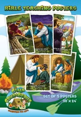 Camp Courageous VBS 2015: Bible Teaching Posters, pack of 5