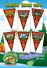 Camp Courageous VBS 2015: Daily Icon Set, pack of 6
