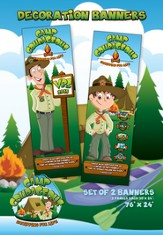 Camp Courageous VBS 2015: Decoration Banners (24 x 36), pack of 2