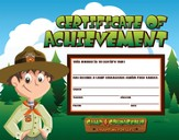 Camp Courageous VBS 2015: Achievement Certificate, pack of 25