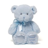 Jesus Loves Me Teddy in Blue