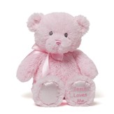 Jesus Loves Me Teddy in Pink