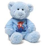 My First Teddy Prayer Bear with Shirt, in Blue