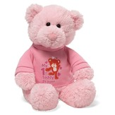 My First Teddy Prayer Bear with Shirt, in Pink